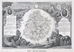 Carte de la Sarthe en 1847. Source : http://data.abuledu.org/URI/531c9f39-carte-de-la-sarthe-en-1847