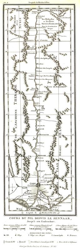 Carte de la vallée du Nil en 1799. Source : http://data.abuledu.org/URI/591c7a77-carte-de-la-vallee-du-nil-en-1799