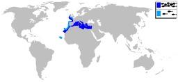 Carte de répartition du denti commun. Source : http://data.abuledu.org/URI/548e2555-carte-de-repartition-du-denti-commun
