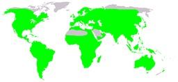 Carte de répartition mondiale des grenouilles. Source : http://data.abuledu.org/URI/53519756-carte-de-repartition-mondiale-des-grenouilles