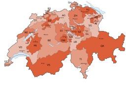 Carte de Suisse avec limites des cantons. Source : http://data.abuledu.org/URI/50772fa1-carte-de-suisse-avec-limites-des-cantons