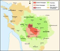 Carte des appelations Cognac. Source : http://data.abuledu.org/URI/54e64a05-carte-des-appelations-cognac