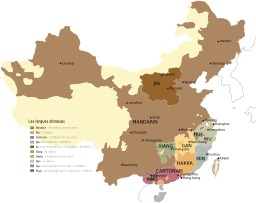 Carte des dialectes chinois. Source : http://data.abuledu.org/URI/51cf5874-carte-des-dialectes-chinois