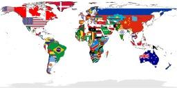 Carte des drapeaux du monde. Source : http://data.abuledu.org/URI/52b88efd-carte-des-drapeaux-du-monde