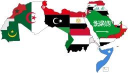 Carte des drapeaux du monde arabe. Source : http://data.abuledu.org/URI/52b88fb9-carte-des-drapeaux-du-monde-arabe