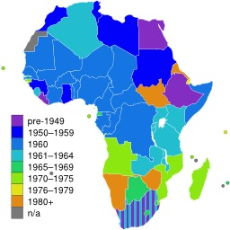 Carte des états africains indépendants. Source : http://data.abuledu.org/URI/52d0485d-carte-des-etats-africains-independants