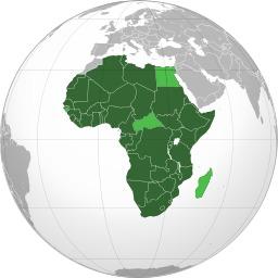 Carte des états membres de l'Union Africaine. Source : http://data.abuledu.org/URI/52d2a0f9-carte-des-etats-membres-de-l-union-africaine