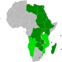 Carte des états-membres du Marché commun de l'Afrique orientale et australe. Source : http://data.abuledu.org/URI/52d29649-carte-des-etats-membres-du-marche-commun-de-l-afrique-orientale-et-australe