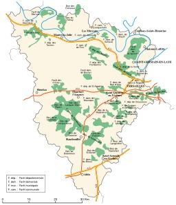Carte des forêts des Yvelines. Source : http://data.abuledu.org/URI/520894f7-carte-des-forets-des-yvelines