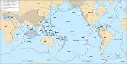 Carte des plaques tectoniques. Source : http://data.abuledu.org/URI/5094dba9-carte-des-plaques-tectoniques