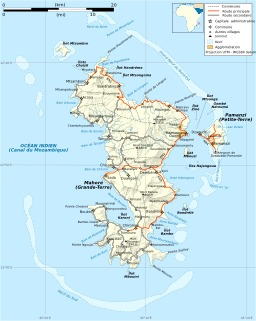 Carte des routes de Mayotte. Source : http://data.abuledu.org/URI/50788868-carte-des-routes-de-mayotte