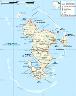 Carte des routes de Mayotte. Source : http://data.abuledu.org/URI/50788868-carte-des-routes-de-mayotte