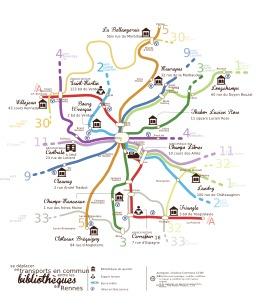 Carte des transports entre les bibliothèques de Rennes. Source : http://data.abuledu.org/URI/548d82b7-carte-des-transports-entre-les-bibliotheques-de-rennes