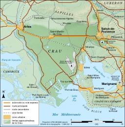 Carte du Crau. Source : http://data.abuledu.org/URI/51ca1f47-carte-du-crau