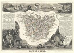 Carte du département de l'Eure en 1852. Source : http://data.abuledu.org/URI/531cb4f6-carte-du-departement-de-l-eure-en-1852
