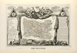 Carte illustrée du département de l'Oise en 1852. Source : http://data.abuledu.org/URI/531f79c9-carte-du-departement-de-l-oise-en-1852