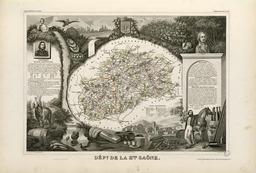 Carte illustrée du département de la Haute-Saône en 1852. Source : http://data.abuledu.org/URI/531f910f-carte-du-departement-de-la-haute-saone-en-1852