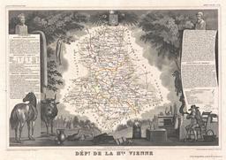 Carte du département de la Haute Vienne en 1852. Source : http://data.abuledu.org/URI/531f3eff-carte-du-departement-de-la-haute-vienne-en-1852