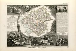 Carte illustrée du département de la Loire-Inférieure en 1852. Source : http://data.abuledu.org/URI/531f91c2-carte-du-departement-de-la-loire-inferieure-en-1852