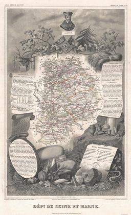 Carte du département de Seine-et-Marne en 1852. Source : http://data.abuledu.org/URI/531f3f93-carte-du-departement-de-seine-et-marne-en-1852