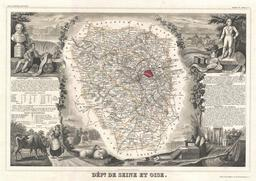 Carte du département de Seine-et-Oise en 1852. Source : http://data.abuledu.org/URI/531cac34-carte-du-departement-de-seine-et-oise-en-1852