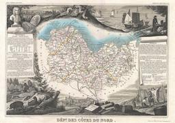 Carte du département des Côtes-du-Nord en 1852. Source : http://data.abuledu.org/URI/531cb073-carte-du-departement-des-cotes-du-nord-en-1852