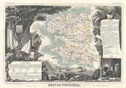 Carte du département du Finistère en 1852. Source : http://data.abuledu.org/URI/531f4221-carte-du-departement-du-finistere-en-1852