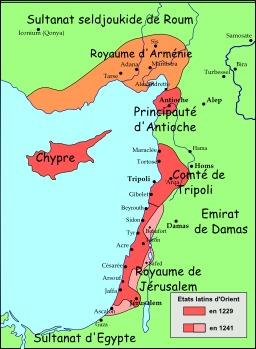 Carte du Levant en 1240. Source : http://data.abuledu.org/URI/51f30044-carte-du-levant-en-1240