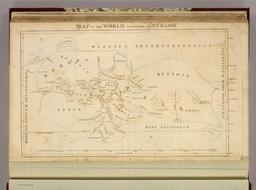 Carte du monde d'après Strabon. Source : http://data.abuledu.org/URI/554c9da4-carte-du-monde-d-apres-strabon