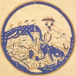 Carte du monde en 1154. Source : http://data.abuledu.org/URI/53f47fc7-carte-du-monde-en-1154