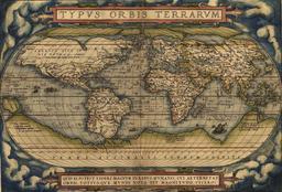 Carte du Monde en 1570. Source : http://data.abuledu.org/URI/505f4de2-carte-du-monde-en-1570