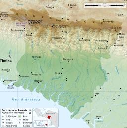 Carte du parc national de Lorentz en Papouasie. Source : http://data.abuledu.org/URI/52912f0c-carte-du-parc-national-de-lorentz-en-papouasie