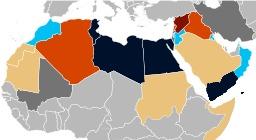 Carte du printemps arabe. Source : http://data.abuledu.org/URI/5517f2bf-carte-du-printemps-arabe