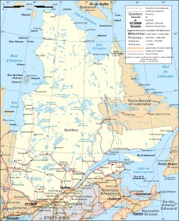 Carte du Québec. Source : http://data.abuledu.org/URI/52092a8e-carte-du-quebec