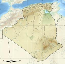 Carte du relief de l'Algérie. Source : http://data.abuledu.org/URI/5070761f-carte-du-relief-de-l-algerie
