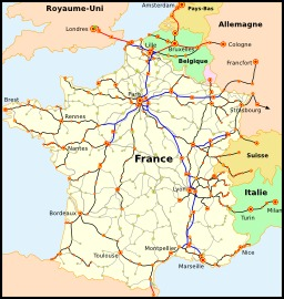 Carte du réseau de chemins de fer. Source : http://data.abuledu.org/URI/50dcde6b-carte-du-reseau-de-chemins-de-fer