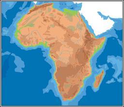 Carte géographique de l'Afrique. Source : http://data.abuledu.org/URI/52d03df1-carte-geographique-de-l-afrique