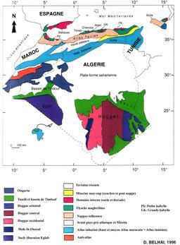 Carte géologique de l'Algérie. Source : http://data.abuledu.org/URI/54858264-carte-geologique-de-l-algerie