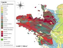 Carte géologique du massif armoricain. Source : http://data.abuledu.org/URI/506c704d-carte-geologique-du-massif-armoricain