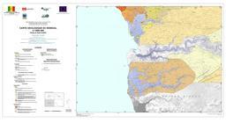 Carte géologique du Sud-Ouest du Sénégal. Source : http://data.abuledu.org/URI/5485887d-carte-geologique-du-sud-ouest-du-senegal