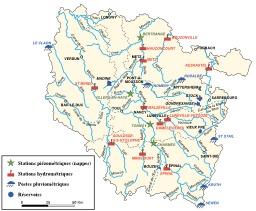 Carte hydrologique de la Lorraine. Source : http://data.abuledu.org/URI/520891d4-carte-hydrologique-de-la-lorraine