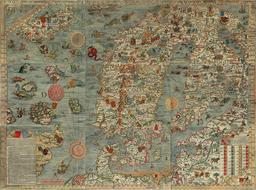 Carte marine de la Scandinavie. Source : http://data.abuledu.org/URI/508851a1-carte-marine-de-la-scandinavie