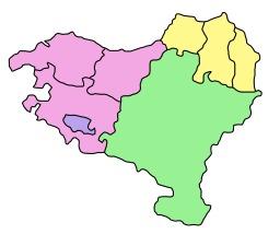 Carte muette du Pays Basque. Source : http://data.abuledu.org/URI/52bc6365-carte-muette-du-pays-basque