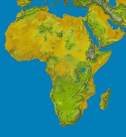 Carte oro-hydrographique de l'Afrique. Source : http://data.abuledu.org/URI/52d03d3e-carte-oro-hydrographique-de-l-afrique
