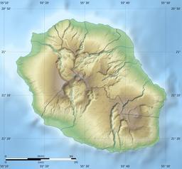 Carte physique vierge de l'île de La Réunion. Source : http://data.abuledu.org/URI/52192a06-carte-physique-vierge-de-l-ile-de-la-reunion