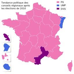 Carte politique de la France en 2010. Source : http://data.abuledu.org/URI/51d3c84a-carte-politique-de-la-france-en-2010