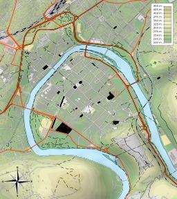 Carte topographique de Besançon. Source : http://data.abuledu.org/URI/52daa030-carte-topographique-de-besancon