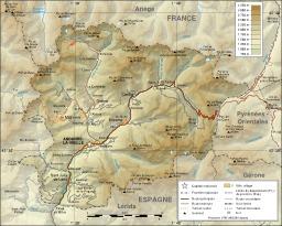 Carte topographique de l'Andorre. Source : http://data.abuledu.org/URI/51ca2a56-carte-topographique-de-l-andorre