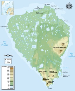 Carte topographique de l'île aux ours. Source : http://data.abuledu.org/URI/54e64ad8-carte-topographique-de-l-ile-aux-ours