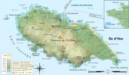 Carte topographique de l'île d'Yeu. Source : http://data.abuledu.org/URI/508d15d2-carte-topographique-de-l-ile-d-yeu